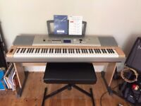 Yamaha Portable Grand Piano Model YPG-635 (Stool and Foot-pedal)