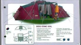 Khyam XXXL Quick Erect System - Kyham 3 pods, central community area & porch, 10+ berth / man tent