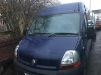 Renault master/ Vauxhall Movano in white and blue 2.5 cdti breaking for parts