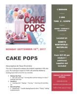 Cake Pops Decorating Class - Sobeys Northfield Waterloo