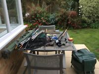 Assorted Fishing Tackle-Coarse/Sea/Fly Fishing rods plus reels etc.Buyer to collect from Lymington.