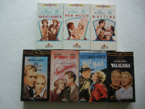 7 Nelson Eddy Classic Films, VHS Format, Excellent Condition