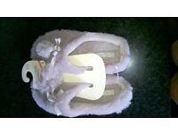 Memory Foam Slippers (Grey) - Size 5-6