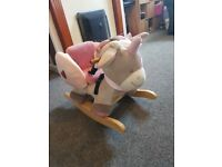 Luxury baby unicorn rocker