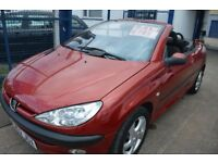 Peugeot 206 CONVERTIBLE IN GOOD CONDITION WITH MOT UNTIL FEBRUARY 2018