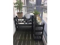 Outdoor plant shelves