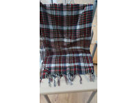 Ladies Red and White Checkard Tassel Scarf.