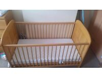 Cotbed and mattress used but good condition