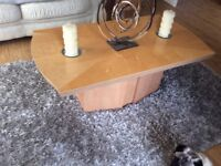 Coffee table and matching lamp table.