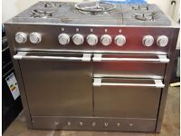 Mercury 1090 Range Cooker. Dual Fuel. Stainless Steel.