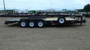 2017 24' Tri Axle Equip w/pipe over fender (21000 GVW) Double A
