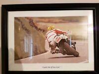 3 Motorcycle racing prints - Framed