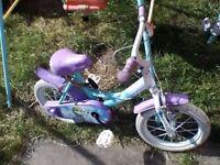Girls frozen bike 12inc