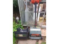 Electric grass moss rake black and decker garden mower lawn seed greenhouses