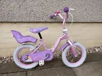 """14"""" Pink Girls Bike with Doll carrier"""