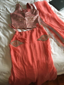 LIGHT PINK SUMMERY LENGHA FOR AN INDIAN WEDDING