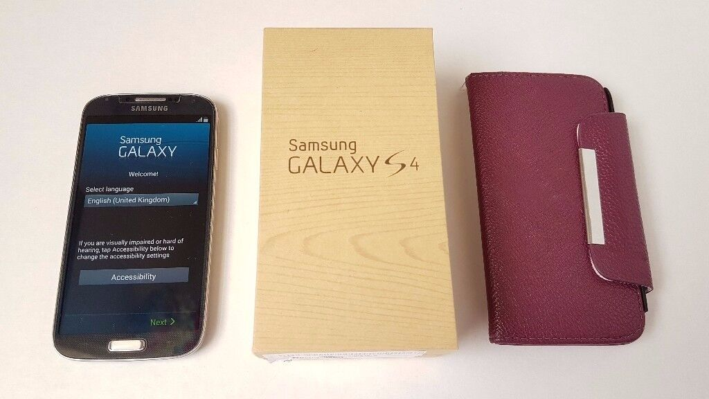 Samsung Galaxy S4 I950516GBBlack Mist (Unlocked) Smartphone Very Good Conditionin Derby, DerbyshireGumtree - Samsung Galaxy S4 I9505 16GB Black Mist (Unlocked) Smartphone Very Good Condition. Few scratches like you can see on pictures. Evrything is fully working I used screen glass protector and phone case from first use. IMEI number is the same on box and...