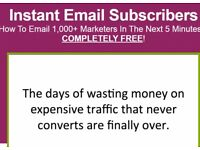 Instant Email Subscribers How To Email 1,000+ Marketers In The Next 5 Minutes..