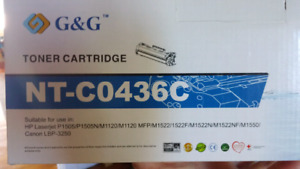 Toner compatible with printer using 36a