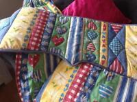 Nursery curtains ( boy or girl) with padded pelmet