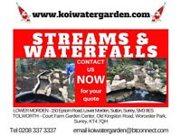 Streams and Waterfalls constructed