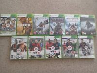 11 Xbox 360 games all used but VGC