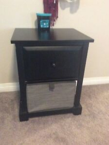 Small black table with storage underneath.  $40 or best offer!!