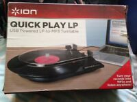 ION Quick Play LP USB Powered Vinyl to MP3 Turntable