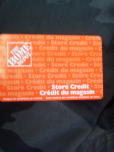 Home depot gift card/store credit