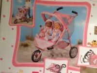 Baby Born Double Buggy. Excellent condition