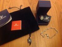 Swarovski crystal ring and handchain bracelet great gift