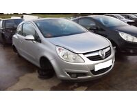 VAUXHALL CORSA D SILVER DRIVERS SIDE DOOR 07 08 09 10 REG USED ( BREAKING SPARES )