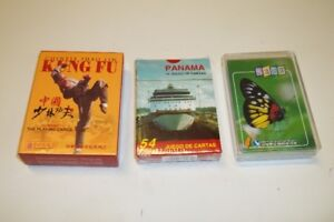 3 Pairs Of Souvenir Playing Cards.