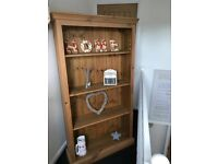 Solid pine bookcase/display unit