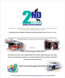 2nd Chances Animal Rescue Services 1st Annual Summer Fundraiser