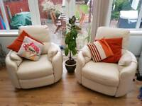 2 retro leather swivel chairs great condition