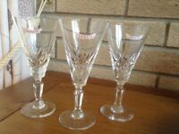 Genete drinking glasses X 3 in good condition ex public house.S