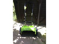 Garden gear cordless battery lawn mower charged in 40 minutes used once