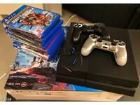 Playstation 4 Black 500Gb Great Condition with 2 controllers and 12 games Battlefield 1 Call of Duty