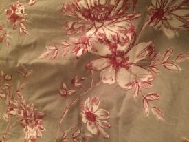 king size duvet cover from next - light grey with red flower etching perfect condition