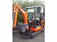 MINI-DIGGER HIRE 1.5 TON £60 PER DAY
