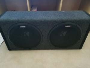 "12"" kicker subs and amp"