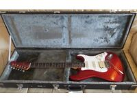 Tokai Vintage ST60 Fender Strat Guitar '84 Candy apple red, with TGI case