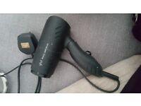 GHD travel hairdryer in black