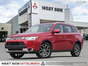 2015 Mitsubishi Outlander GT–One Owner–Navigation–FCM–LDW–3.0L V