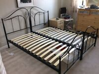 A super king sized bed frame in as new condition. Size 6 foot wide and 6 foot 3 wide.