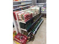 Supermarket Gondola & Wall Shelf
