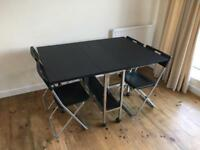 Folding table with 4 stowaway chairs