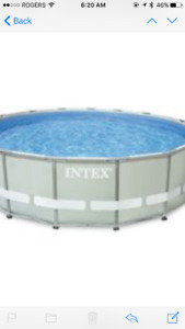 INTEX 16ft. Above Ground Pool