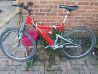 Adults front and rear suspension mountain bike